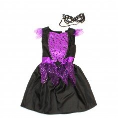 obrázek Halloweenské šaty a škraboška