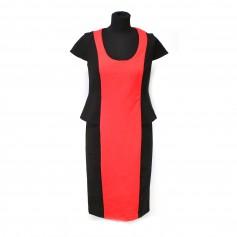 obrázek Kombinované strečové černno-červené šaty, zn. Together