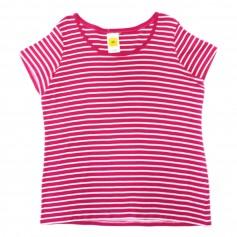 obrázek Pruhované tričko v kombinaci bílá - magenta